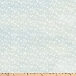 Enchanted Forest Snowflakes Pale Blue Fabric