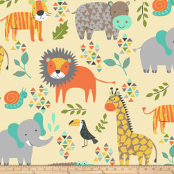 Winter Fleece Jungle Animals Butter Fabric