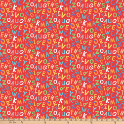 Northcott Alphabet Soup ABC Letters Red Fabric