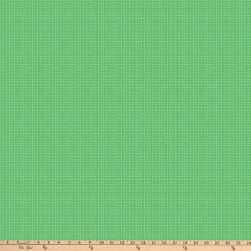 Northcott Alphabet Soup Grid Lines Dark Green Fabric