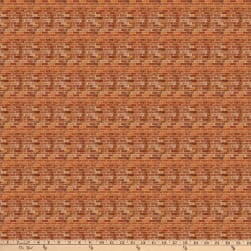 Autumn Village Brick White Fabric
