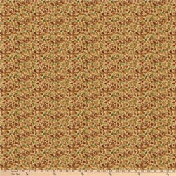Autumn Village Small Leaves Beige Fabric