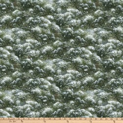 The Sly Fox Snowy Pine Green Fabric