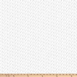 Below Zero Winter Small Snowflakes Grey Fabric