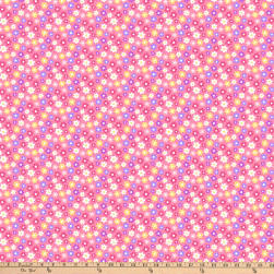 Girls Of The World Flowers Pink Fabric