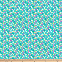 Girls Of The World Turquoise Fabric
