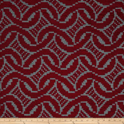 Artistry Patago Chenille Jacquard Ruby Fabric