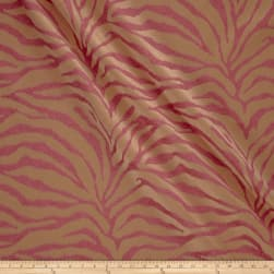 Tempo Serengeti Tiger Chenille Hot Pink Fabric