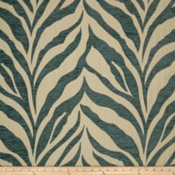 Tempo Nambia Tiger Chenille Teal Fabric