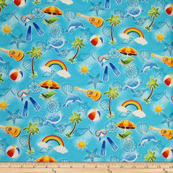 Trans-Pacific Textiles Keiki Fun in the Sun Turquoise
