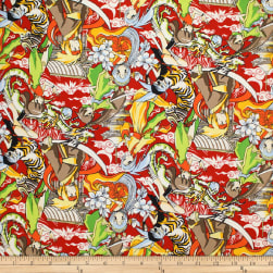 Trans-Pacific Textiles Anime Manga Mania Red Fabric