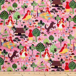Trans-Pacific Textiles Fantasy Red's Visit to Grandma Pink