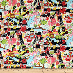Trans-Pacific Textiles Tomodachi Wild World of Anime Beige