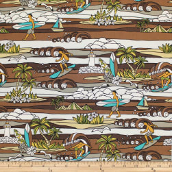 Trans-Pacific Textiles Surftown Stained Glass Sets Brown Fabric