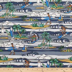 Trans-Pacific Textiles Surftown Stained Glass Sets Gray Fabric