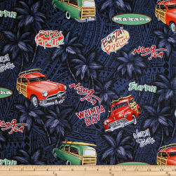 Trans-Pacific Textiles Retro Woodies Black