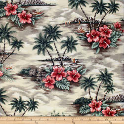 Trans-Pacific Textiles Scenic Deserted Paradise Beige