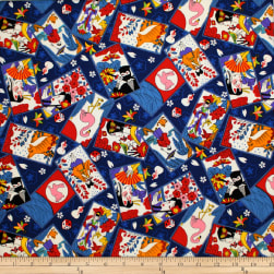Trans-Pacific Textiles Tomodachi Hanafuda Cards Navy Fabric