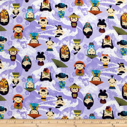 Trans-Pacific Textiles Anime Little Tokyo Lavender Fabric