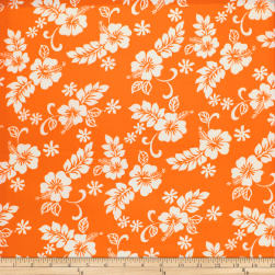 Trans-Pacific Textiles Hibiscus Mini Pareau Bright Orange