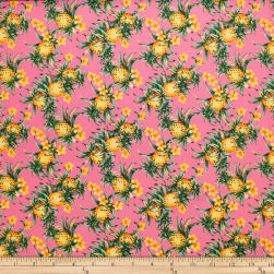 Trans-Pacific Textiles Tropical Micro Pineapples Pink