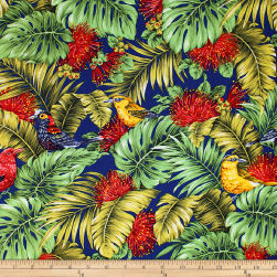 Trans-Pacific Textiles Endangered Species Navy Fabric