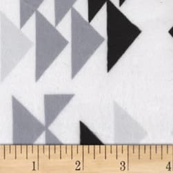 Michael Miller Minky Geo Group Triangles Black Fabric
