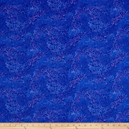 QT Fabrics Basics Ombre Scroll Blender Ultra Marine