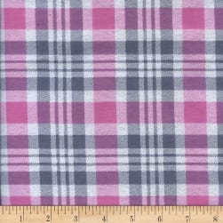 Printed Flannel Gabriel Plaid Pink/Grey