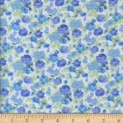 Printed Flannel Matias Blue Fabric