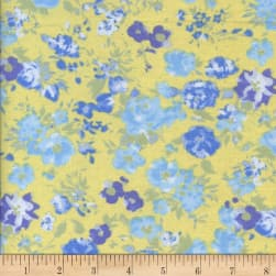 Printed Flannel Jardin Yellow