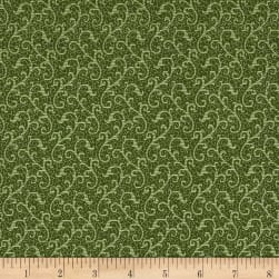 QT Fabrics Antiquities Windsor Scroll Olive Fabric