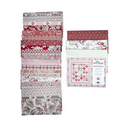 Riley Blake Stacked Hearts in Rustic Romance Quilt