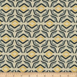 Benartex Sevilla Mellow Yellows Cream/Grey Fabric