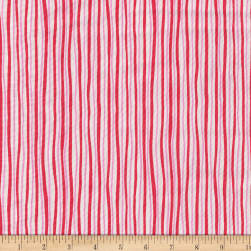 Benartex Funny Bunnies Stripes Red