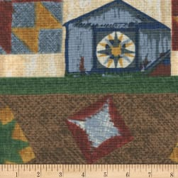 Riverwoods Quilt Trails Landscape Brown Fabric