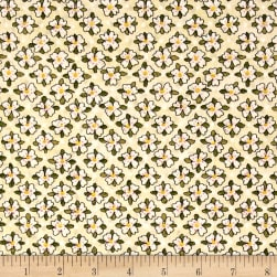 Riverwoods Glamping Gypsies Floral White Fabric