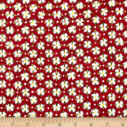 Riverwoods Glamping Gypsies Floral Red Fabric