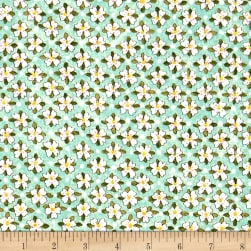 Riverwoods Glamping Gypsies Floral Blue Fabric