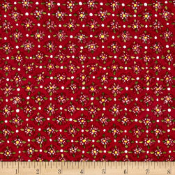 Riverwoods Glamping Gypsies Flowers Red Fabric