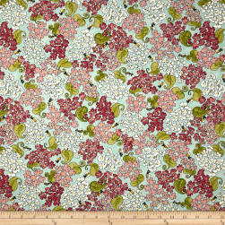 Riverwoods Glamping Gypsies Flowers and Bees Blue Fabric