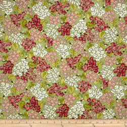 Riverwoods Glamping Gypsies Flowers and Bees Green Fabric