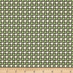 Riverwoods Glamping Gypsies Checkered Green Fabric