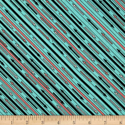 Riverwoods Glamping Gypsies Stripe Green Fabric