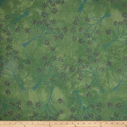 Riverwoods Rainforest Tree Emerald Fabric