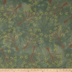 Riverwoods Rainforest Tree Pewter Fabric