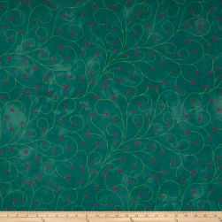 Riverwoods Rainforest Flowers Aqua Fabric