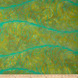 Riverwoods Rainforest Large Leaf Lime Fabric