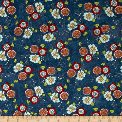 Riverwoods Vintage Vogue Laundry Floral Navy Fabric