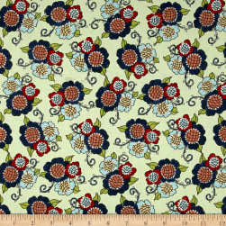 Riverwoods Vintage Vogue Laundry Floral Green Fabric